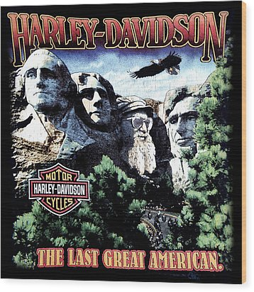 Harley Davidson The Last Great American Wood Print