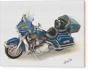 Harley Electraglyde Wood Print by Ferrel Cordle