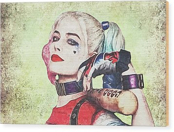 Harley Is A Crazy Woman Wood Print by Anton Kalinichev