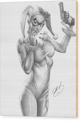Harley Quinn Wood Print