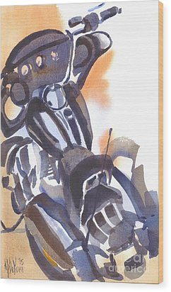 Wood Print featuring the painting Motorcycle Iv by Kip DeVore