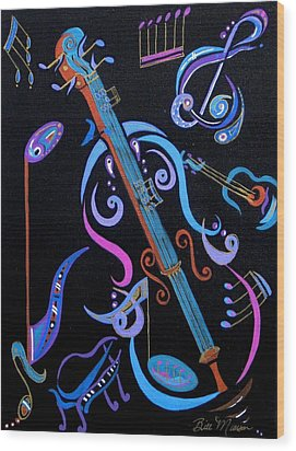 Harmony In Strings Wood Print by Bill Manson