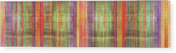 Harmony Stripes Wood Print by Ab Stract