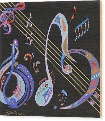 Harmony V Wood Print by Bill Manson