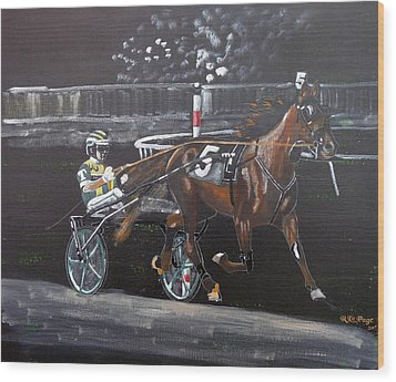Harness Racing Wood Print