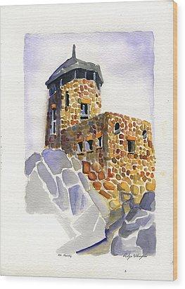 Harney Peak Wood Print by Rodger Ellingson