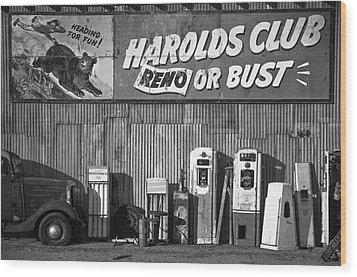 Harold's Club Wood Print by Marius Sipa