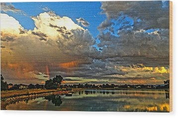 Wood Print featuring the photograph Harper Lake by Eric Dee