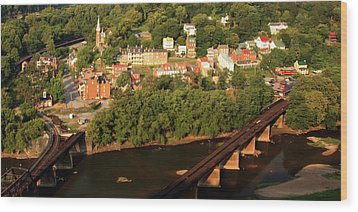 Wood Print featuring the photograph Harpers Ferry by Mitch Cat
