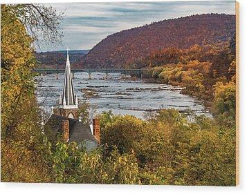 Harpers Ferry, West Virginia Wood Print