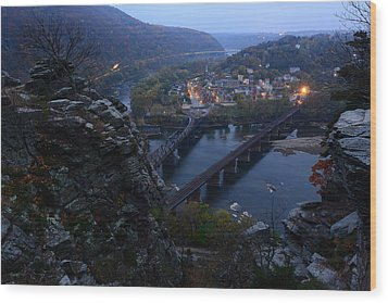 Harpers Ferry Wv Wood Print by Bernard Chen