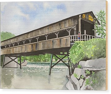 Harpersfield Bridge Wood Print