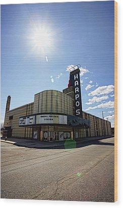 Harpos Concert Theatre - Detroit Michigan Wood Print by Gordon Dean II