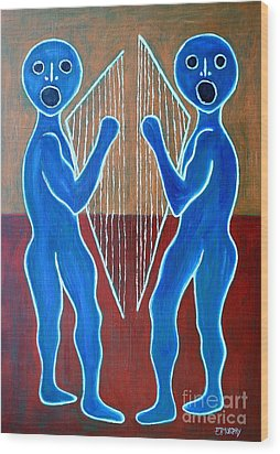 Harps And Voices Wood Print by Patrick J Murphy