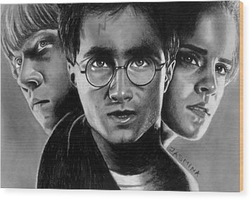Harry Potter Fanart Wood Print by Jasmina Susak