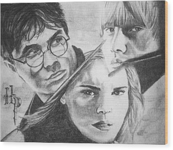 Harry Potter Wood Print by Madelyn Mershon