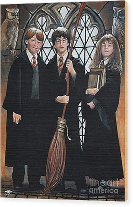 Harry Potter Wood Print by Tom Carlton