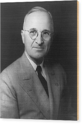 Harry S Truman - President Of The United States Of America Wood Print by International  Images