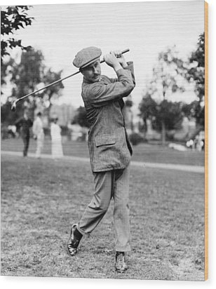 Harry Vardon - Golfer Wood Print by International  Images