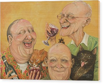 Harry's Lodge Meeting Wood Print by Shelly Wilkerson