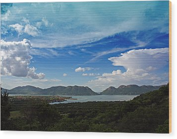 Wood Print featuring the photograph Hartebeespoort Dam by Riana Van Staden