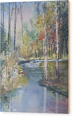 Hartman Creek Birches Wood Print