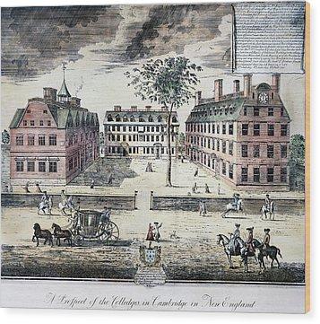 Harvard College, C1725 Wood Print by Granger