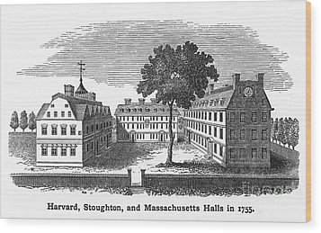 Harvard University, 1755 Wood Print by Granger