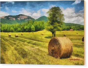 Harvest At Table Rock Wood Print by Lynne Jenkins