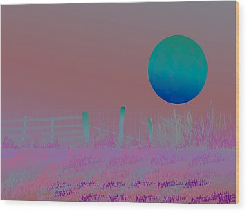 Harvest Moon Wood Print by Amy Williams