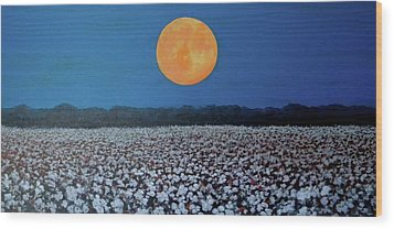 Harvest Moon Wood Print