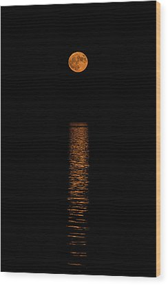 Wood Print featuring the photograph Harvest Moonrise by Paul Freidlund