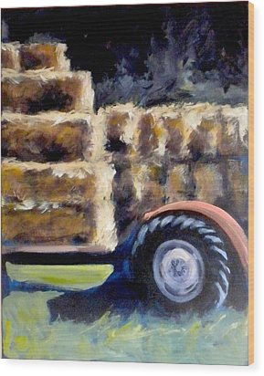 Harvest Wood Print by Paula Strother