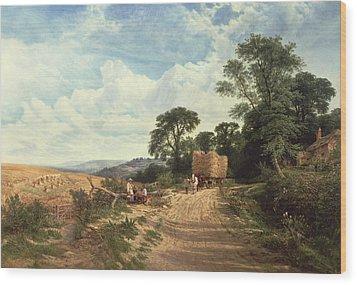 Harvest Time Wood Print by George Vicat Cole