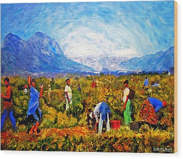 Harvest Time Wood Print by Michael Durst