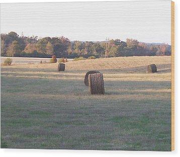 Harvest Time Wood Print by Paula Ferguson