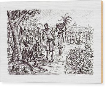 Harvest Time  Wood Print by Wale Adeoye