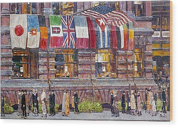 Hassam: Allied Flags, 1917 Wood Print by Granger