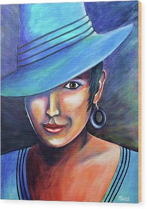 Hat Affair Wood Print
