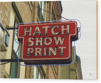 Hatch Show Print Wood Print