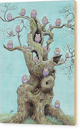Hatchlings Wood Print by Charles Cater