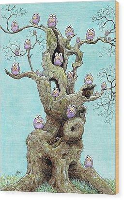 Hatchlings Wood Print