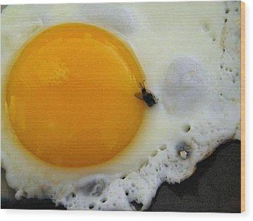 Hate When That Happens Wood Print by Santiago Rodriguez