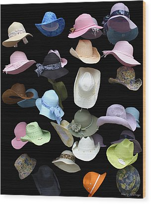 Hats Off Wood Print by Shelly Stallings