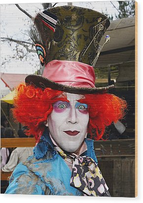 Hatter Wood Print by Clarence Alford