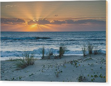 Hatteras Dawn Wood Print by Eric Albright