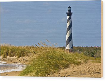 Hatteras Lighthouse Wood Print by Ches Black