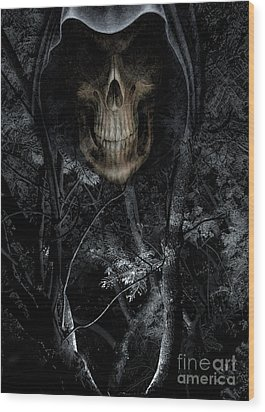 Wood Print featuring the photograph Haunted Forest by Al Bourassa