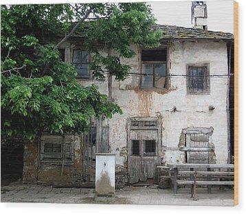 Haunted House In Bulgaria Wood Print by Valia Bradshaw