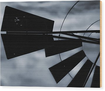 Haunted Windmill Wood Print by Tony Grider
